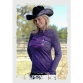 "H00168 Women's Cowgirl Tuff ""2 in 1"" Long Sleeve Shirt"
